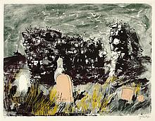 § JOHN PIPER C.A. (BRITISH 1903-1992) RUINED CHAPEL, ISLE OF MULL, 1975 69cm x 86cm (27in x 34in)