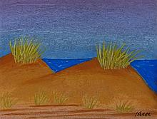 § JACK KNOX R.S.A. (SCOTTISH B.1936) SANDUNES, 1990 25cm x 33cm (9.75in x 13in)