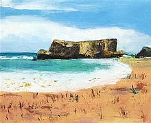§ NIAMH COLLINS (IRISH B.1956) TWO ROCKS 40.5cm x 56cm (16in x 22in)