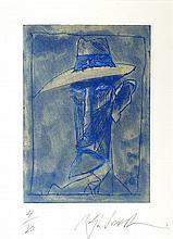 § RALPH STEADMAN (BRITISH B.1936) WILLIAM BURROUGHS 28cm x 20cm (11in x 8in) (plate size)