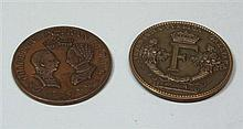 Two early 19th century historical medallion of Mary Queen of Scots 5cm diameter