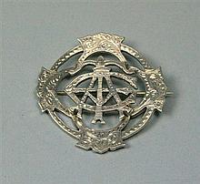 Arbroath - A scarce Scottish provincial brooch 4.5cm diameter, 17.2g