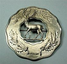 A Victorian plaid brooch 9.5cm diameter, 2.7oz