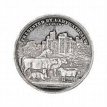 Aberdeen - A Scottish provincial farming medallion 49mm diameter, 48g