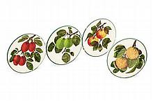 WEMYSS WARE FOUR SMALL PLATES, EARLY 20TH CENTURY 4.3cm diameter