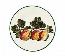 WEMYSS WARE 'GOOSEBERRIES' SIDE PLATE, CIRCA 1900 17cm diameter