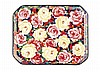 WEMYSS WARE RARE 'CABBAGE ROSES' COMB TRAY, EARLY 20TH CENTURY 25.5cm diameter