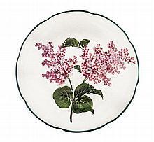 WEMYSS WARE 'LILACS' GORDON DESSERT PLATE, CIRCA 1900 21cm diameter