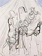 SIR JACOB EPSTEIN K.B.E. (AMERICAN/BRITISH 1880 - 1959) PATRIARCHAL GROUP 56cm x 42.5cm (22in x 16.75in)
