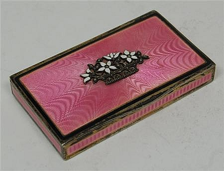 A Continental enamel snuff box 8cm wide