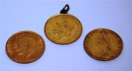 A group of three sovereigns