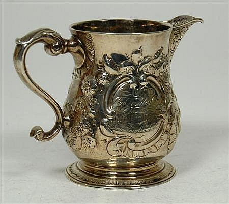 New York - an American baluster cream jug 9.5cm high, 6.4oz