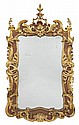 GEORGE II WALNUT AND GILTWOOD MIRROR CIRCA 1730 88cm wide, 151cm high