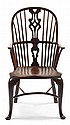 GEORGE III YEW WOOD WINDSOR CHAIR 18TH CENTURY 57cm wide, 105cm high, 44cm deep