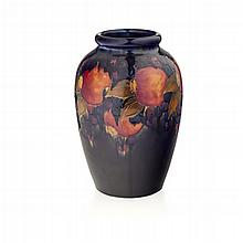 MOORCROFT POTTERY SHOULDERED 'POMEGRANATE' PATTERN VASE, CIRCA 1935 33cm high