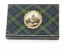 A 'CAMPBELL' TARTANWARE CARD CASE 19TH CENTURY 10.2cm long