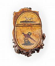 A SCOTTISH BURR-WOOD SNUFF MULL BY GEORGE SINCLAIR, BONNINGTON 19TH CENTURY 10.5cm long
