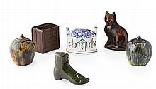 A COLLECTION OF MONEY BOXES BY ROSSLYN POTTERY, KIRKCALDY LATE 19TH CENTURY