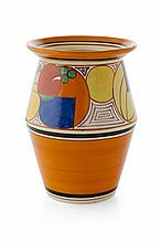 CLARICE CLIFF (1899-1972) 'MELON' ('PICASSO FRUIT') PATTERN VASE, CIRCA 1930 20cm high