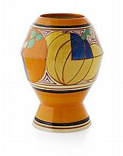 CLARICE CLIFF (1899-1972) 'MELON' ('PICASSO FRUIT') PATTERN VASE, CIRCA 1930 20.5cm high