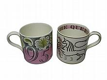 ERIC RAVILIOUS (1903-1942) FOR WEDGWOOD 1952 CORONATION MUG, PRODUCED 1953
