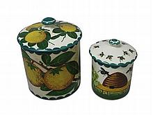 WEYMSS WARE LARGE 'ORANGES' PRESERVE JAR & COVER, CIRCA 1900
