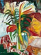 § JOHN BELLANY H.R.S.A., R.A., C.B.E. (SCOTTISH B. 1942) STILL LIFE WITH YUCCA PLANT 91cm x 122cm (36in x 48in)
