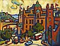 § JOAN GILLESPIE (SCOTTISH 20TH CENTURY) THE MOUND 31cm x 39cm (12in x 15.5in)