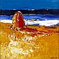 § JOHN LOWRIE MORRISON O.B.E (SCOTTISH B.1948) HAYSTACK BY THE SHORE, ISLE OF MULL 61cm x 61cm (24in x 24in)