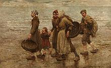 ROBERT MCGREGOR R.S.A. (SCOTTISH 1847-1922) THE CHILDREN OF THE BEACH 93cm x 147cm (36.5in x 58in)