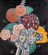 CHARLES RENNIE MACKINTOSH (SCOTTISH 1868-1928) GARDEN BOUQUET 29.8cm x 26cm (11.75in x 10.25in)