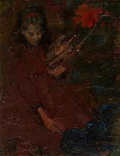 EDWARD ATKINSON HORNEL (SCOTTISH 1864-1933) GATHERING FIREWOOD 31cm x 23cm (12in x 9in)