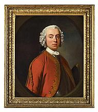 ALLAN RAMSAY (SCOTTISH 1713-1784) HALF LENGTH PORTRAIT OF LORD JOHN MURRAY (1711-1787) 76cm x 63cm (30in x 25in)