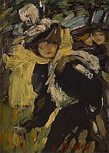 BESSIE MACNICOL (SCOTTISH 1869-1904) IN THE PARK 16.5cm x 11.5cm (6.5in x 4.5in)
