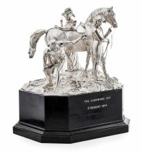 An Important Early Victorian Horse Racing Trophy - Goodwood 1844 Silver height: 40cm, width: 48cm, weight: