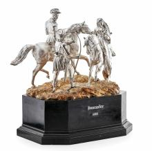 An Important Early Victorian Horse Racing Trophy - Doncaster 1844 Height silver: 43cm, maximum width: 63cm