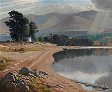 § EDWARD IRVINE HALLIDAY (BRITISH 1902-1994) LOCH MORLICH 38cm x 46cm (15in x 18in)