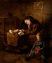 ROBERT MCGREGOR R.S.A. (SCOTTISH 1847-1922) WORN OUT 76cm x 63cm (30in x 25in)