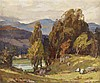 ROBERT HOPE R.S.A. (SCOTTISH 1869-1936) IN THE GLEN Signed, oil on canvas
