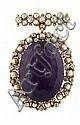 An Edwardian multi-gem set brooch/pendant Overall length 4.5cm