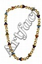 BULGARI - a multi-gem set necklace, Length 41cm