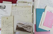 Autograph letters, a collection including