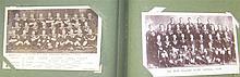 Postcards, c. 468, in 3 albums, including All Blacks