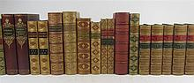 Bindings, 42 volumes, including Shakespeare, W.
