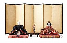 COLLECTION OF NINGYO DOLLS AND ACCESSORIES MEIJI PERIOD