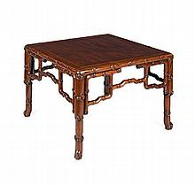 A HUANGHUALI 'EIGHT IMMORTALS' TABLE QING DYNASTY 75cm wide, 52cm high, 76cm deep