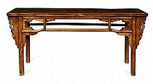 AN ELM ALTAR TABLE QING DYNASTY 186cm long, 86cm high, 47cm deep