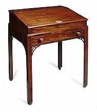 A CHINESE EXPORT HUANGHUALI AND HARDWOOD CLERK'S TABLE MID 18TH CENTURY 74cm wide, 87cm high, 61cm deep