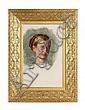 WILLIAM HOLMAN HUNT O.M. (BRITISH 1827-1910) PORTRAIT STUDY OF MISS ISABELLA WAUGH 55cm x 35cm (21.75in x 13.75in)