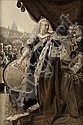 FRANCOIS FLAMENG (FRENCH 1856-1923) QUEEN VICTORIA 83cm x 57cm (32.75in x 22.5in), including an engraving on silk after this paintin..., Francois Flameng, Click for value